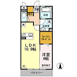 近鉄南大阪線 河内松原駅 徒歩3分の賃貸アパート 2階1LDKの間取り