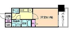 JR大阪環状線 福島駅 徒歩11分の賃貸マンション 2階1Kの間取り