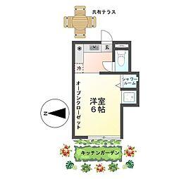 恵明荘 Herbal Apartment みんなで創るキッチンガーデン[2号室]の間取り