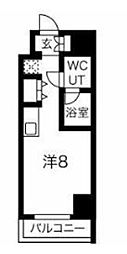 JR京浜東北・根岸線 川崎駅 徒歩4分の賃貸マンション 4階ワンルームの間取り