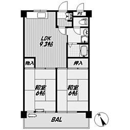 モリマンション[3階]の間取り