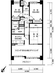 兵庫県神戸市西区井吹台西町1丁目の賃貸マンションの間取り