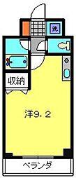ティーリーフ横浜レジーナ[204号室]の間取り