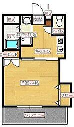 サンハウス羽犬塚[105号室]の間取り