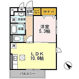 大黒屋ハイツ 三番館[2階]の間取り