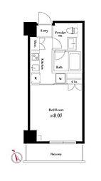 京王井の頭線 西永福駅 徒歩5分の賃貸マンション 2階1Kの間取り