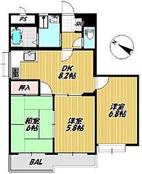 マンション88[4階]の間取り