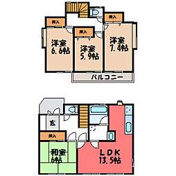 [一戸建] 栃木県宇都宮市御幸本町 の賃貸【/】の間取り