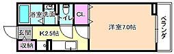 グランソレイユ楠葉2[1階]の間取り