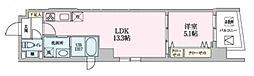Luce 9階1LDKの間取り