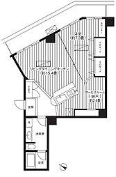 東京都台東区浅草1丁目の賃貸マンションの間取り