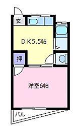 土谷マンション[3階]の間取り