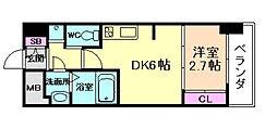 SERENiTE福島シェルト 3階1DKの間取り
