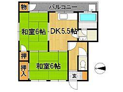 坂田アパート A[10号室]の間取り