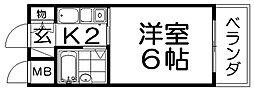 シャトーHAMADA[2階]の間取り