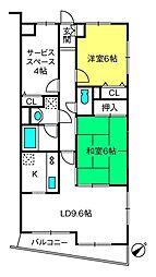 ワコーレ大宮七里[2階]の間取り