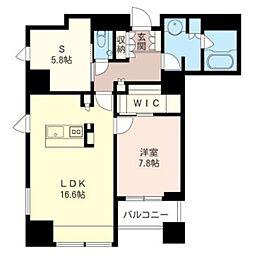 プライムメゾン大通公園 一般住戸 15階1SLDKの間取り