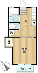 神奈川県横浜市瀬谷区瀬谷4丁目の賃貸アパートの間取り