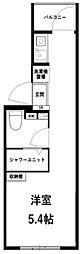 レガーロ中野大和町 4階ワンルームの間取り