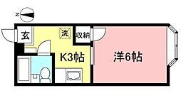 カーサM[1階]の間取り