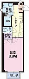 静岡県菊川市沢水加の賃貸アパートの間取り