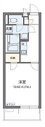 クレイノ芝富士ハイツ 57163 2階1Kの間取り