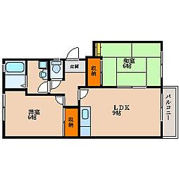 滋賀県長浜市八幡東町の賃貸アパートの間取り