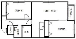 リアライズ東札幌[102号室]の間取り