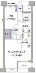 アビティ目黒 7階1LDKの間取り