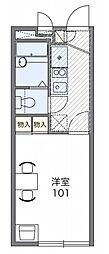 西武拝島線 武蔵砂川駅 徒歩24分の賃貸アパート 1階1Kの間取り