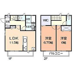 [テラスハウス] 神奈川県鎌倉市小町3丁目 の賃貸【/】の間取り