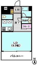 ユニテ・ド・ブラン[2階]の間取り