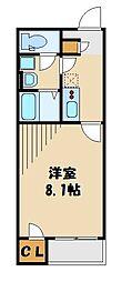 東武越生線 武州長瀬駅 徒歩10分の賃貸アパート 1階1Kの間取り