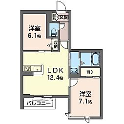 (仮)秦野市鶴巻南2丁目シャーメゾン[203号室]の間取り