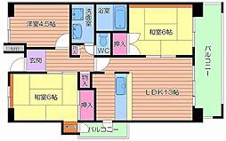 UR都島リバーシティ1号棟[6階]の間取り