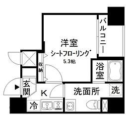 アイディ西五反田 2階1Kの間取り