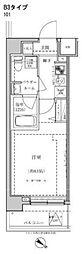 東武東上線 東武練馬駅 徒歩10分の賃貸マンション 1階1Kの間取り