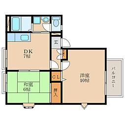 ピュアナハート A棟[2階]の間取り