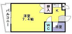 スカイマンション松山[102号室]の間取り