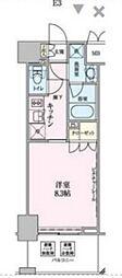 東京都港区赤坂9丁目の賃貸マンションの間取り