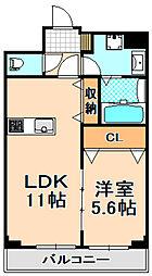 阪急伊丹線 伊丹駅 バス5分 寺本東下車 徒歩3分の賃貸マンション 1階1LDKの間取り