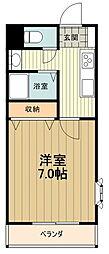 JR中央線 八王子駅 バス15分 丹木1丁目下車 徒歩1分の賃貸マンション 3階1Kの間取り