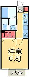 千葉県千葉市緑区辺田町の賃貸アパートの間取り