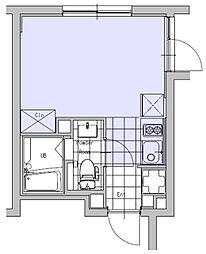 EXAM吉祥寺 2階ワンルームの間取り