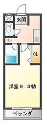 愛知県岡崎市真伝町字抱六岩の賃貸マンションの間取り