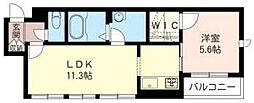 JR京浜東北・根岸線 東神奈川駅 徒歩12分の賃貸アパート 1階1LDKの間取り