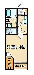 レオネクスト岡シティーパレス53597 2階1Kの間取り