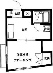 東京都豊島区目白2丁目の賃貸マンションの間取り