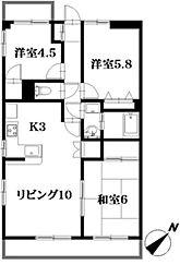 金島ビル[4階]の間取り