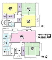 [一戸建] 東京都日野市東平山2丁目 の賃貸【/】の間取り